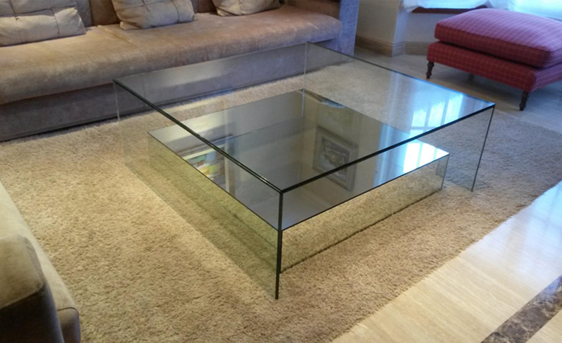 mesa baja cristal